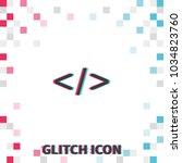 code glitch effect vector icon. | Shutterstock .eps vector #1034823760