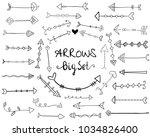 big set with creative vector... | Shutterstock .eps vector #1034826400