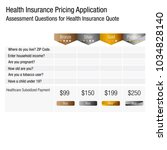 an image of a health insurance... | Shutterstock .eps vector #1034828140