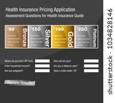an image of a health insurance...   Shutterstock .eps vector #1034828146