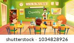 vector colorful background with ... | Shutterstock .eps vector #1034828926