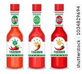 tabasco sauce. chili cayenne... | Shutterstock .eps vector #1034829694
