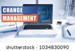 Change Management Text Concept...