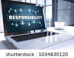 responsibility text on modern...   Shutterstock . vector #1034830120
