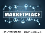 marketplace   text concept on... | Shutterstock . vector #1034830126