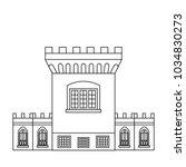 the medieval tower of dublin... | Shutterstock .eps vector #1034830273
