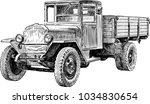 heavy truck of the second world ...   Shutterstock .eps vector #1034830654