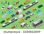 isometric city transport with... | Shutterstock .eps vector #1034832859