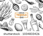 tequila bar label. mexican... | Shutterstock . vector #1034833426