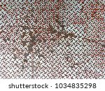 rusted metal grate surface... | Shutterstock . vector #1034835298