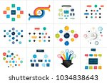 flowcharts schemes  diagrams.... | Shutterstock .eps vector #1034838643