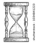 hourglass illustration  drawing ...   Shutterstock .eps vector #1034841223