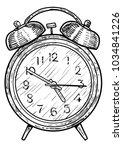 alarm clock illustration ...   Shutterstock .eps vector #1034841226