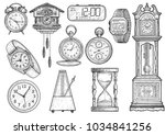 clock collection illustration ... | Shutterstock .eps vector #1034841256