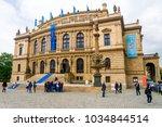 prague  czech republic   may 16 ... | Shutterstock . vector #1034844514