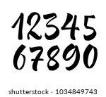 brush lettering numbers. modern ... | Shutterstock .eps vector #1034849743