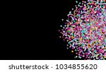 beads background. fashion... | Shutterstock . vector #1034855620