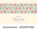 women's day   poster with hand... | Shutterstock .eps vector #1034857000