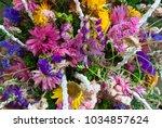 floral arrangement  outdoor... | Shutterstock . vector #1034857624