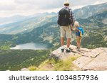 father and son traveling in...   Shutterstock . vector #1034857936