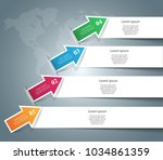 infographic design template and ... | Shutterstock .eps vector #1034861359