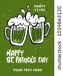 st. patrick's day party poster. ... | Shutterstock .eps vector #1034863120