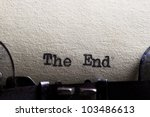 The End... Written On An Old...