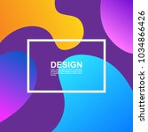 fluid color covers. colorful... | Shutterstock .eps vector #1034866426