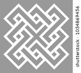 celtic motif with interlaced... | Shutterstock .eps vector #1034869456