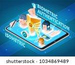 biometric user identification... | Shutterstock .eps vector #1034869489