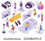 virtual reality vr immersive... | Shutterstock .eps vector #1034869513
