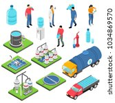 water purification set of... | Shutterstock .eps vector #1034869570