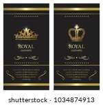 gold crown. luxury label ...   Shutterstock .eps vector #1034874913