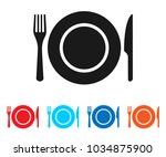 plate icon vector. eating icon... | Shutterstock .eps vector #1034875900