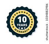 10 year warranty label... | Shutterstock .eps vector #1034882986