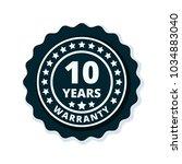 10 year warranty label...   Shutterstock .eps vector #1034883040
