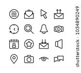 network icons set with bell ...