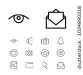 web icons set with folder  eye...