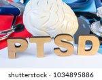 ptsd medical abbreviation or... | Shutterstock . vector #1034895886