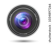 realistic camera lens with... | Shutterstock .eps vector #1034897266