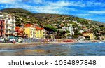 beautiful view of the sea and... | Shutterstock . vector #1034897848