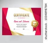 gift certificate  design.  red...   Shutterstock .eps vector #1034898784