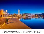 view on town hall and saint... | Shutterstock . vector #1034901169