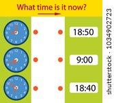 riddle the children clock. what ... | Shutterstock .eps vector #1034902723