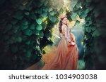 beautiful pregnant brunette... | Shutterstock . vector #1034903038