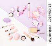 frame made of female accessory... | Shutterstock . vector #1034903413