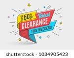 retro futuristic promotion... | Shutterstock .eps vector #1034905423