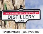 district distillery in toronto  ...   Shutterstock . vector #1034907589