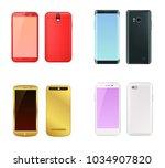 smartphones collection black ...   Shutterstock .eps vector #1034907820