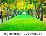 perspective landscape of... | Shutterstock . vector #1034908789